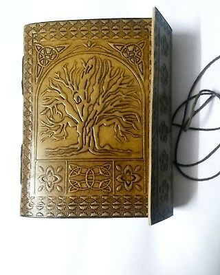 "5"" X 7"" Handmade Leather Journal diary Celtic Tree of Life Book of Shadow wicca"