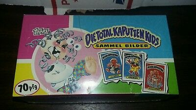 Rare 1994 Garbage Pail Kids Die Total Kaputten Kids MINT FULL Box Sammel Bilder!