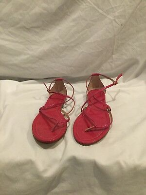 7adcbaf9c31 J CREW WOMEN'S Audra Sandals 9 1/2. Bright Coral New without box ...