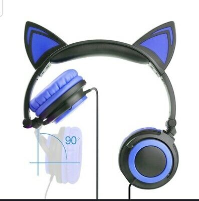 Foldable LED Cat Ear Headphones for Galaxy and some Apple products US SHIPPING
