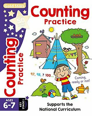 Gold Stars Counting Practice Ages 6-7 Key Stage 1: Supports t... by Nina Filipek