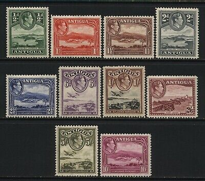 Antigua 1938 Collection 10 KGVI Values Mounted Mint
