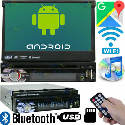 Android Motorizzato 7 Autoradio Cd Dvd Gps Navigatore 1Din Wifi Bluetooth Sd Usb
