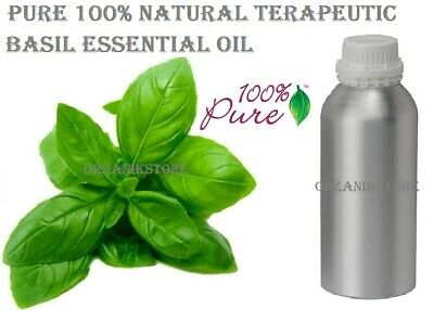 Basil Essential Oil Natural Pure Aromatherapy Therapeutic ( 10 ml - 500 ml )