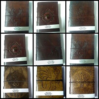 Indian Vintage Handmade Leather Journal, Traveler Diary With Cotton Paper, Diary