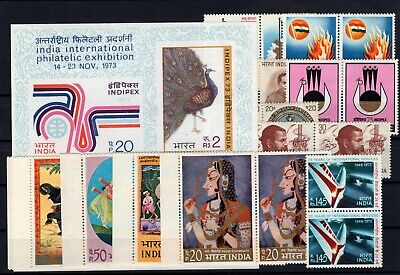 P106409/ Inde / India / Lot 1973 Neuf ** / Mnh Complete