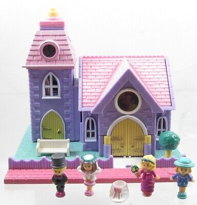 1993 Polly Pocket Original  Wedding Chapel Vintage Lot Bluebird Toys
