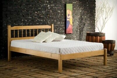 Traditional Santos 4ft6 Double Solid Wooden Bed Frame Antique Pine Bedroom