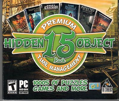 PREMIUM HIDDEN OBJECT 15 Pack Time Management PC Game - New