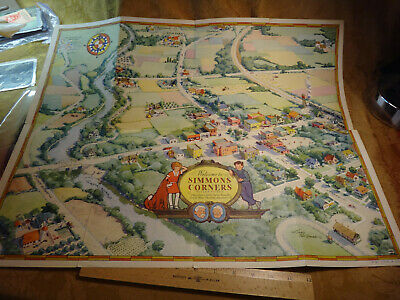 Vintage Simmons Corners Tucker County Map Little Orphan Annie - Free S&H USA