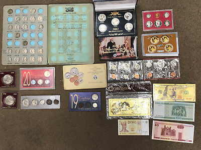 Ten Collectible Coin Sets= Silver, Proofs, Uncirculated, Dollars & One Of A Kind