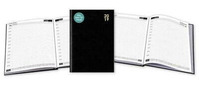 2019 Diary A4 Day A Page Hardback Case Bound Appointment Desk Notes FDTP