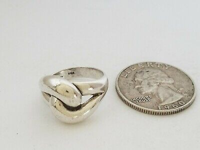 Vintage James Avery Solid Sterling Silver Cadena Knot Ring Size 6
