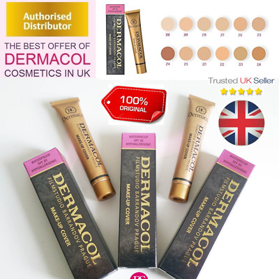 Genuine Dermacol Makeup High Cover Film Studio Legendary Waterproof Foundation