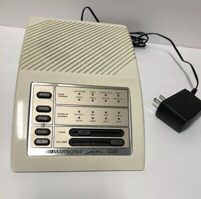 Sound Therapy Relaxation Marsona 1288A Programmable Sound Conditioner USA *Mint