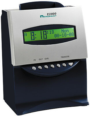 REFURBISHED ACROPRINT ES1000 SELF TOTALING TIME RECORDER CLOCK w/ 100 TIME CARDS
