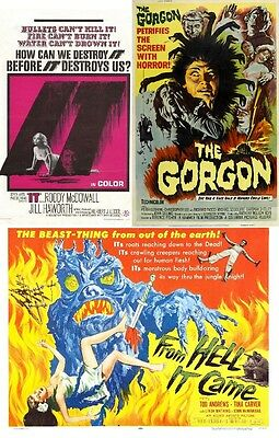 IT! (LEGEND OF THE GOLEM)(Roddy Mcdowall),THE GORGON, FROM HELL IT CAME
