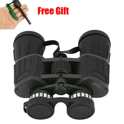 60x50 Zoom Day Night Vision Outdoor Travel HD Binoculars Hunting Telescope+Case