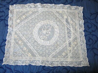 Amazing Antique French Normandy Lace Pillow Sham Lace Hand White Work Embroidery