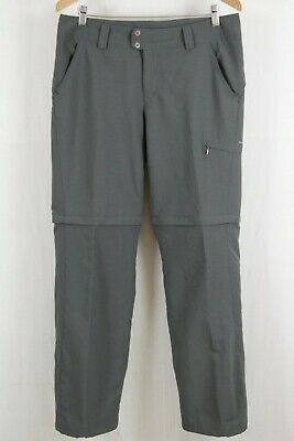 Columbia Titanium Womens Grey Silver Ridge Convertible Stretch Pant Sz XL