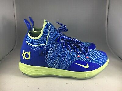 0d9ca5657e6 Nike KD11 GS Flyknit Basketball Shoes Durant Blue AH3465-900 Youth Size 4Y