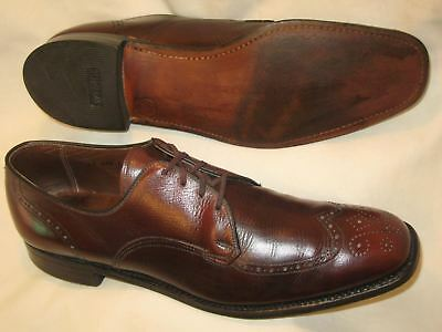 Vtg Breather E.T. Wright Mens Wingtip Oxford Shoes USA Sz 12 AAA Burgundy