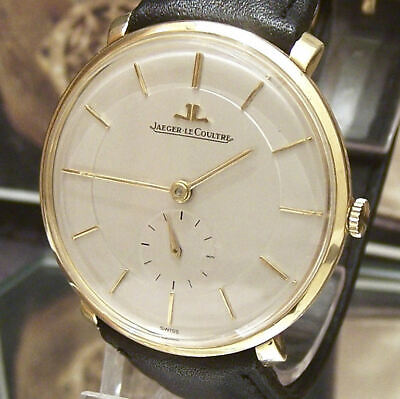 1958 Jaeger Lecoultre Antique Vintage Solid 18K Gold Watch Cal P480/c Working