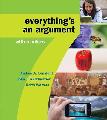 Everything's an Argument with Readings, 7th Edition EB00K PDF INSTANT DELIVERY