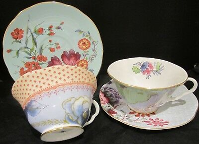 A Pair Of Mis-Matched Wedgwood Teacups & Saucers