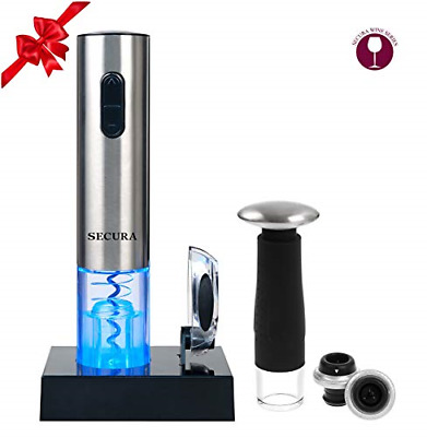 Secura Deluxe Wine Lovers Gift Set | 7-Piece Wine Accessories Set | Electric + 2