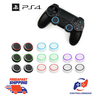 2 x Extra Grip Analog Thumb Stick Cover Caps For Sony PS4 + PS3 Controllers