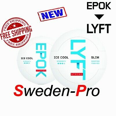 Snus Lyft (Epok) Ice Cool Slim White Portion 1 Can-Free Shipping
