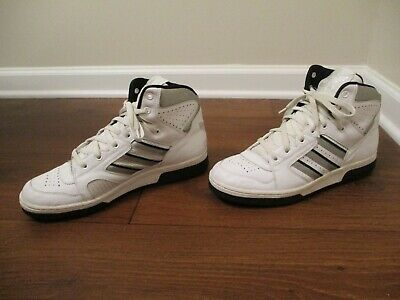 eb6573dc4b1e Classic 2002 Used Worn Size 11 Adidas Conductor Hi Shoes White Silver Black