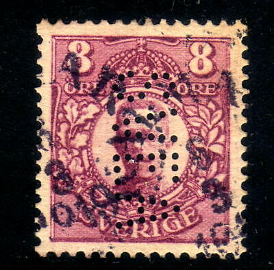 Sweden stamp Facit # 81 with perfin SVEA