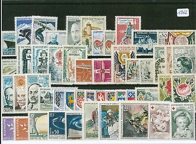 Timbres De France Annee Complete 1962 Neuf Luxe **