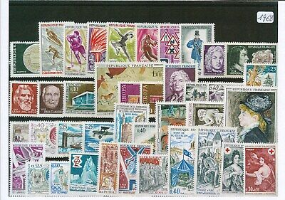 Timbres De France Annee Complete 1968 Neuf Luxe **