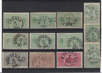 SWEDEN great group of postmarks for checking L3