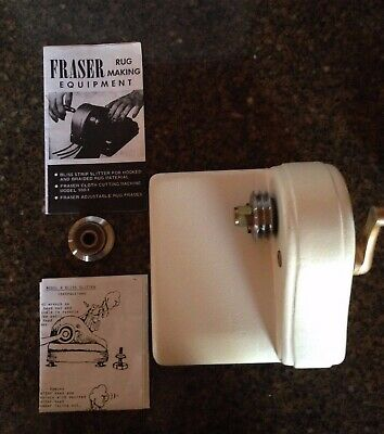 Harry Fraser WOOL Cutting Machine for rug hooking ~ BLISS MODEL A