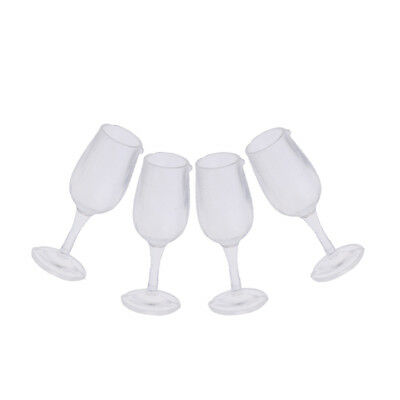 4 Miniature Dollhouse Wine Glass Grail Cup 1:12 Chalice Goblet