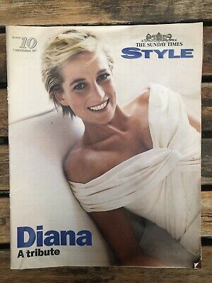 """The Sunday Times  No 9028 7 Sept 1987 With Style magazine """"Diana A Tribute"""""""