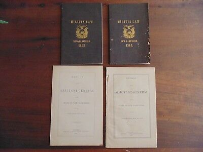 1865/ 1874/ 1877 Adjutant General State of New Hampshire Reports