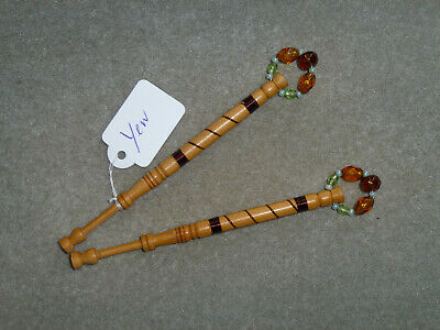 Lacemaking Lace Bobbins Pair Local Yew Wood