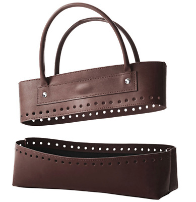 KnitPro Faux Leather Bag Top & Bottom Pieces - Black or Brown