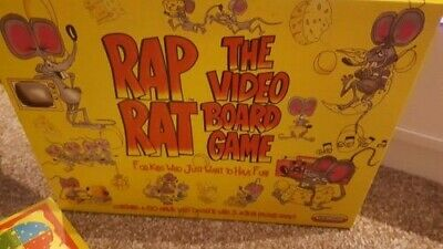 Rap Rat Video Vhs Video Board Game 1992 Spears Games Vintage