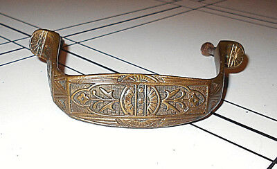 Antique Art Deco Solid Brass Door Pull/handle