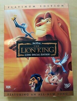 Disney's The Lion King (DVD, 2003, 2-Disc Set, Platinum Edition) Used, like new