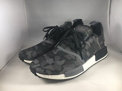 207fa90b0b2ca Adidas NMD R1 Mens Size 9 Duck Camo Core Black Grey Four F17 Grey Five  D96616
