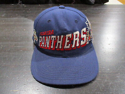 649a353f890 VINTAGE Sports Specialties Florida Panthers Snap Back Hat Cap Blue Hockey  90s