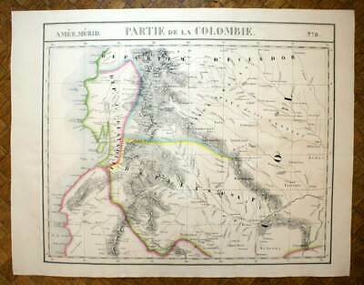 SOUTH OF THE COLOMBIA Card geographical of America n°8 VANDERMAELEN 1827 map