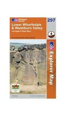 Lower Wharefedale & Washburn Valley, Har... by Ordnance Survey Sheet map, folded